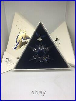 Swarovski Crystal 1997 Christmas Star Snowflake Ornament 211987 With Certificate