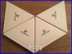 Swarovski Crystal 1998 1999 2000 & 2001 Christmas Star Snowflake Ornaments MIB