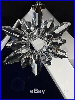 Swarovski Crystal 1998 Annual Christmas Ornament Snowflake With COA