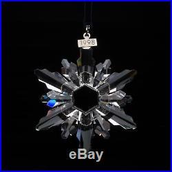 Swarovski Crystal 1998 Annual Large Christmas Ornament Snowflake Star in Box