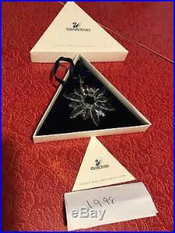 Swarovski Crystal 1998 Christmas Ornament! Beautiful