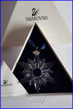 Swarovski Crystal, 1998 Large Clear Christmas Star Ornament. Art No 220073