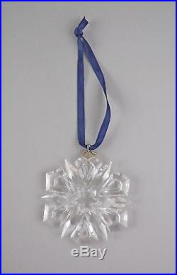 Swarovski Crystal 1999-SNOWFLAKE Annual Christmas Ornament with Box & COA