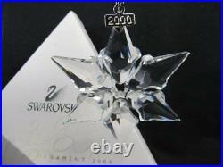 Swarovski Crystal 2000 Annual Christmas Snowflake Ornament