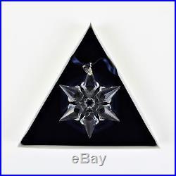 Swarovski Crystal 2000 Annual Large Christmas Ornament Snowflake Star in Box