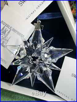 Swarovski Crystal 2001 Annual Christmas Ornament Star Snowflake Box Certificate