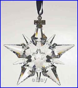 Swarovski Crystal 2001 Annual Large Christmas Ornament Snowflake Star in Box