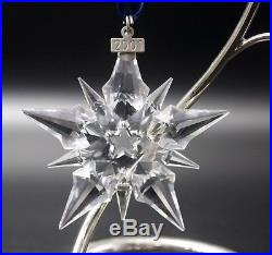 Swarovski Crystal 2001 Annual Star Snowflake Christmas Ornament Mint