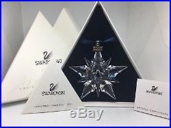 Swarovski Crystal 2001 Christmas Star Snowflake Ornament 267941 New MIB + Cert