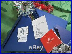 Swarovski Crystal 2002 Annual Christmas Ornament Star Snowflake Box Certificate