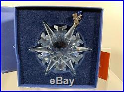 Swarovski Crystal 2002 Annual Edition Christmas Ornament 623367 MIB WithCOA