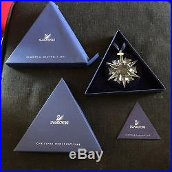 Swarovski Crystal 2002 Annual Star Snowflake Christmas Holiday Ornament 288802