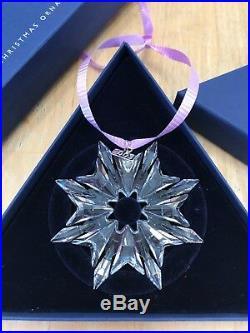Swarovski Crystal 2003 Annual Snowflake Christmas Ornament Star Beautiful