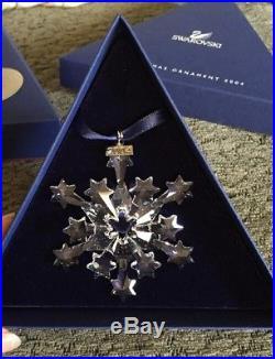 Swarovski Crystal 2004 Christmas Ornament Star Rockefeller Ctr A 9445 NR 200 401
