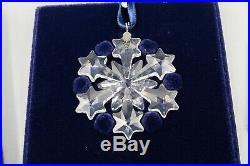 Swarovski Crystal 2004 Little Star Snowflake Ornament Box Book Annual Christmas