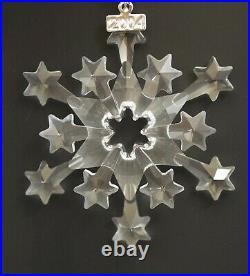 Swarovski Crystal 2004 Rockefeller Center Snowflake Christmas Ornament Nib