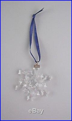 Swarovski Crystal 2004-SNOWFLAKE Annual Christmas Ornament with Box & COA