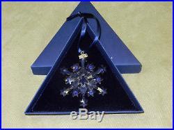 Swarovski Crystal 2004 Snowflake Annual Holiday Christmas Ornament, Coa