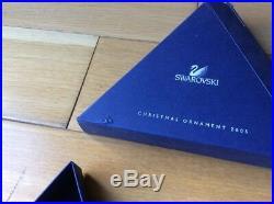 Swarovski Crystal 2005 Christmas Snowflake Boxed Limited Edition