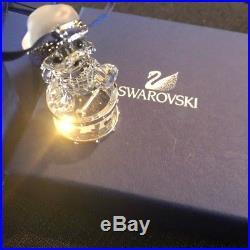 Swarovski Crystal 2007 Kris Bear Drum Christmas Holiday Ornament Figurine 905208