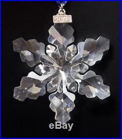 Swarovski Crystal 2008 Annual Star Snowflake Christmas Ornament Mint