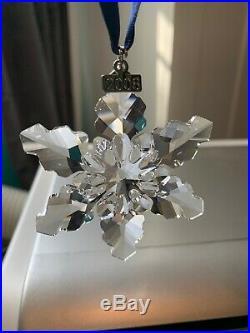 Swarovski Crystal 2008 Large Christmas Annual Ornament Snowflake 0942045 NIB