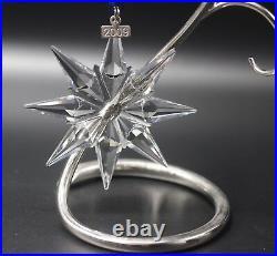 Swarovski Crystal 2009 Annual Star Snowflake Christmas Ornament Mint