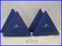 Swarovski Crystal 2012 + 2013 Annual Christmas Ornaments Snowflake Star in Boxes