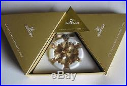 Swarovski Crystal 2012 Christmas Ornament 1139970 Gold Scs Members Retired Boxed