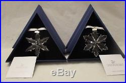 Swarovski Crystal 2014 + 2015 Annual Christmas Ornaments Snowflake Star in Boxes