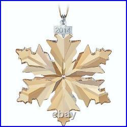 Swarovski Crystal 2014 SCS Ornament Gold