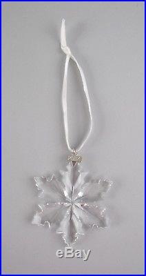 Swarovski Crystal 2014-SNOWFLAKE Annual Christmas Ornament with Box & COA