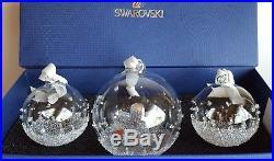 Swarovski Crystal, 2015 A. E. Christmas Ball Ornament Set. Art No 5136414