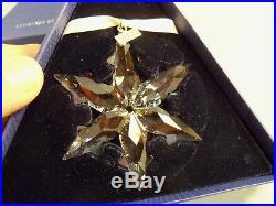 Swarovski Crystal 2015 Annual Christmas Tree Snowflake Star Large Ornament MIB