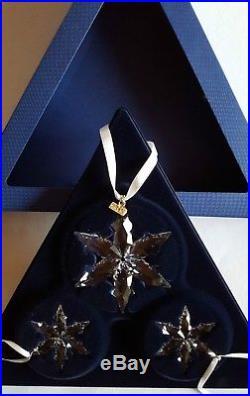 Swarovski Crystal, 2015 Christmas Star Ornament Set of Three, Art No 5135889