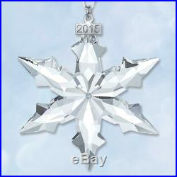 Swarovski Crystal 2015 Star Snowflake Ornament Box Annual Christmas