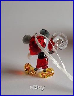 Swarovski Crystal, 2016 Mickey Mouse Christmas Ornament. Rare. Art No 5135938