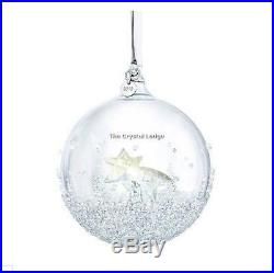 Swarovski Crystal 2018 Christmas Ornament Ball 5377678 Mint Boxed Retired Rare