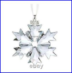 Swarovski Crystal 2018 Christmas Ornament Clear 5301575 Mint Boxed Retired Rare