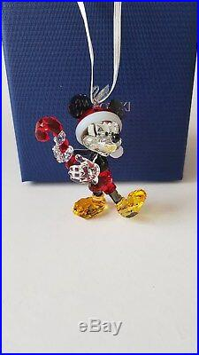 Swarovski Crystal 2018 Mickey Mouse Christmas Ornament with Candy Cane, 5412847