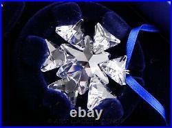 Swarovski Crystal #903409 CHRISTMAS 2007 ORNAMENTS STARS SNOWFLAKES Set of 3 Box