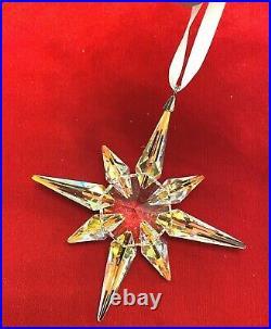 Swarovski Crystal AB Star Ornament Large NIB #5403200