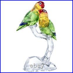 Swarovski Crystal Affection Lovebirds Pair with Base Decoration Figurine 5379552