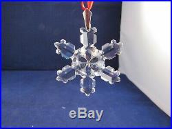 Swarovski Crystal Annual 1992 Snowflake Christmas Ornament No Box