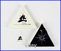 Swarovski Crystal Annual 1995 Star Christmas Ornament 194700 BOX, COA