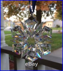 Swarovski Crystal Annual 1999 Snowflake Christmas Ornament with Box Beautiful