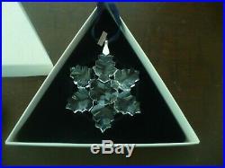 Swarovski Crystal Annual Christmas Ornament 1996 With Original Box MINT