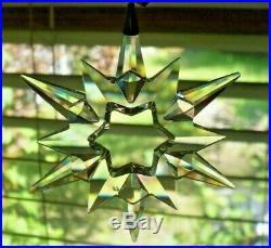 Swarovski Crystal Annual Christmas Ornament 1997 With Original Box/Sleeve MINT