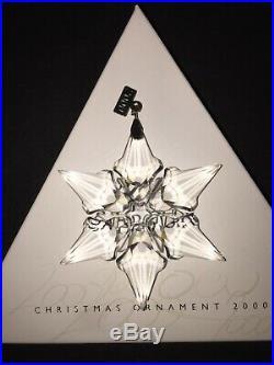 Swarovski Crystal Annual Christmas Ornament 2000 Snowflake