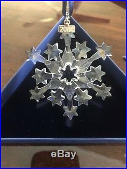Swarovski Crystal Annual Christmas Ornament 2004 STAR SNOWFLAKE Mint Box COA